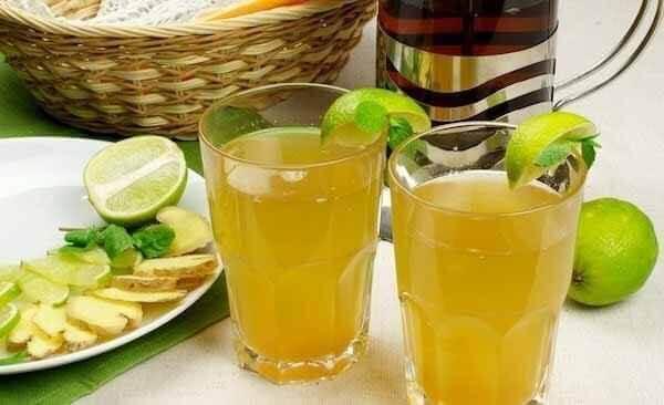 Чай с имбирем с лимоном