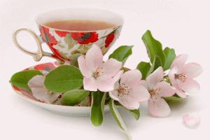 Чашка чая с цветком