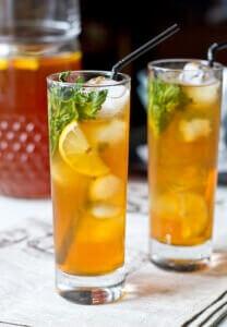 Чай с имбирем, мятой и лимоном
