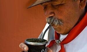 Заваренный чай матэ
