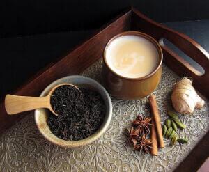 Завареный чай масала