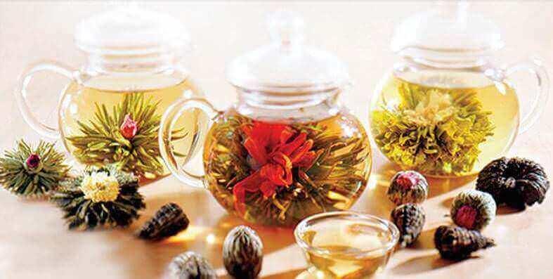 Заварочные чайники с чаем