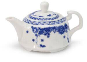 Белый керамический заварочный чайник
