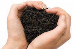 Сердце из черного чая