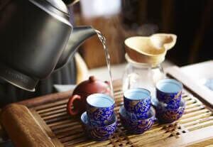Заваривание чая улун