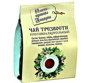 Противоалкогольный чай трезвости