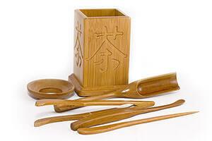 Инструменты из бамбука для заваривания чая