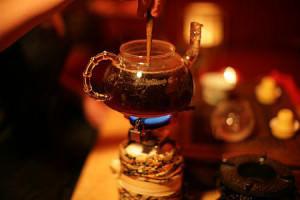 Приготовление чая пуэр на открытом огне